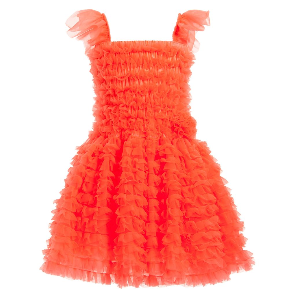 Orange Chiffon Dress