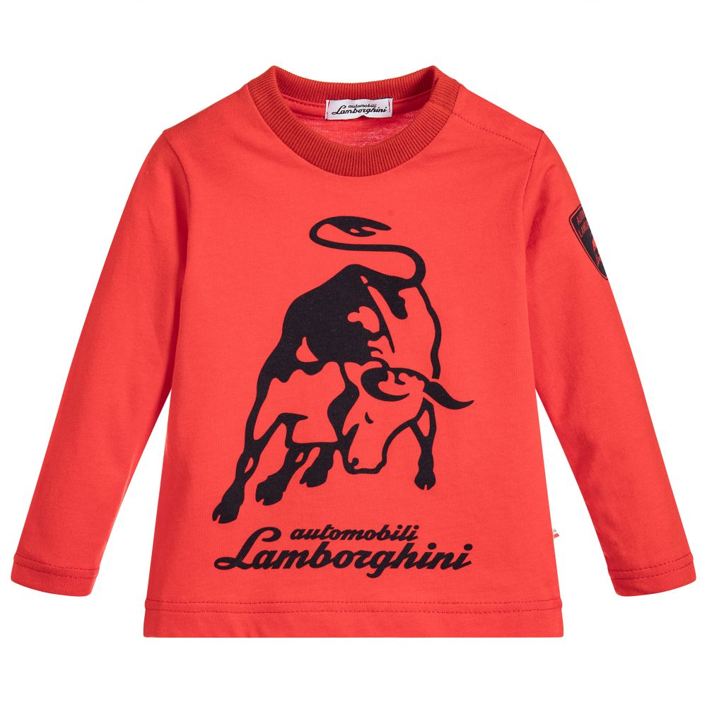 shirt boys red outlet lamborghini t racing childrensalon automobili