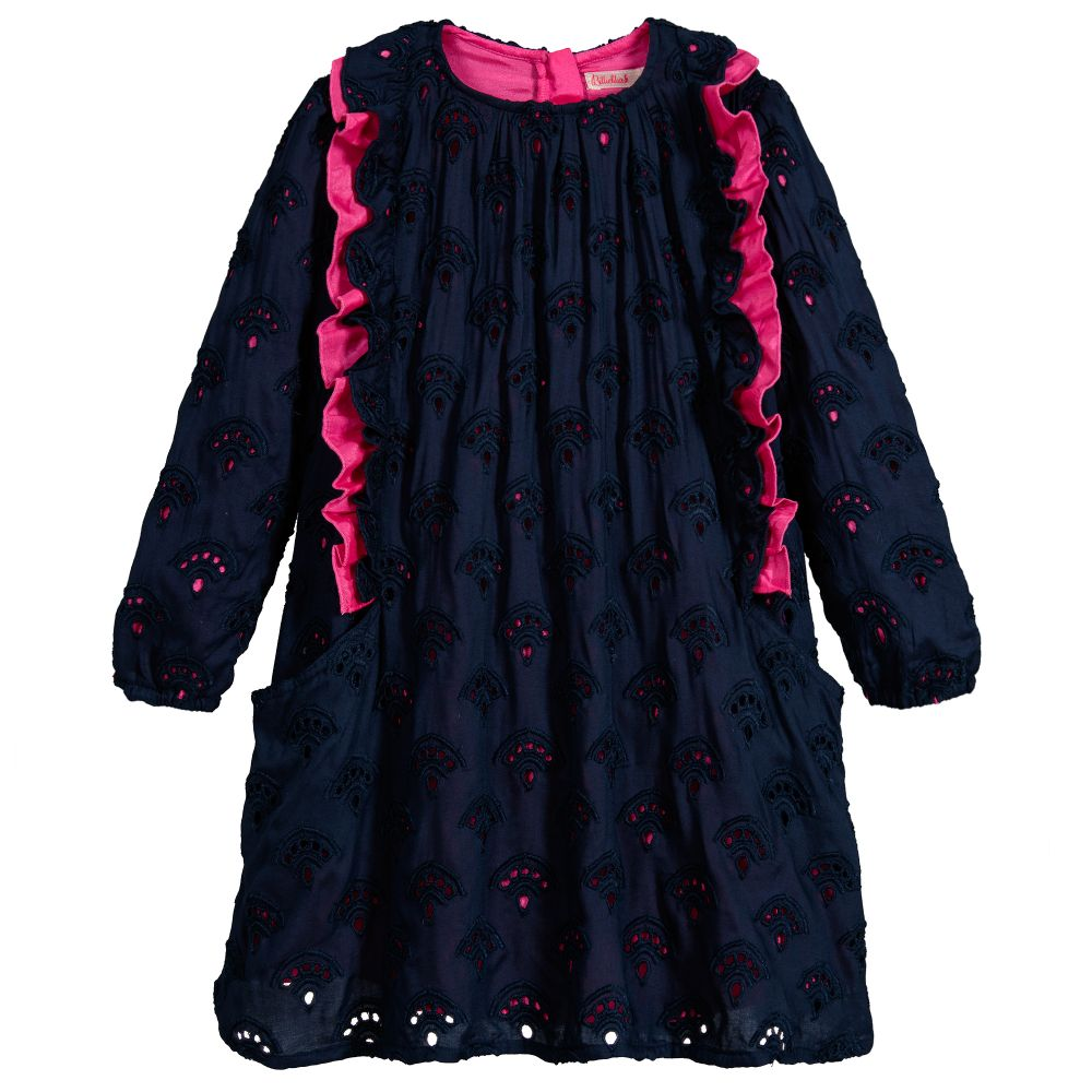 b8332c78b71a Billieblush - Girls Blue Cotton Dress
