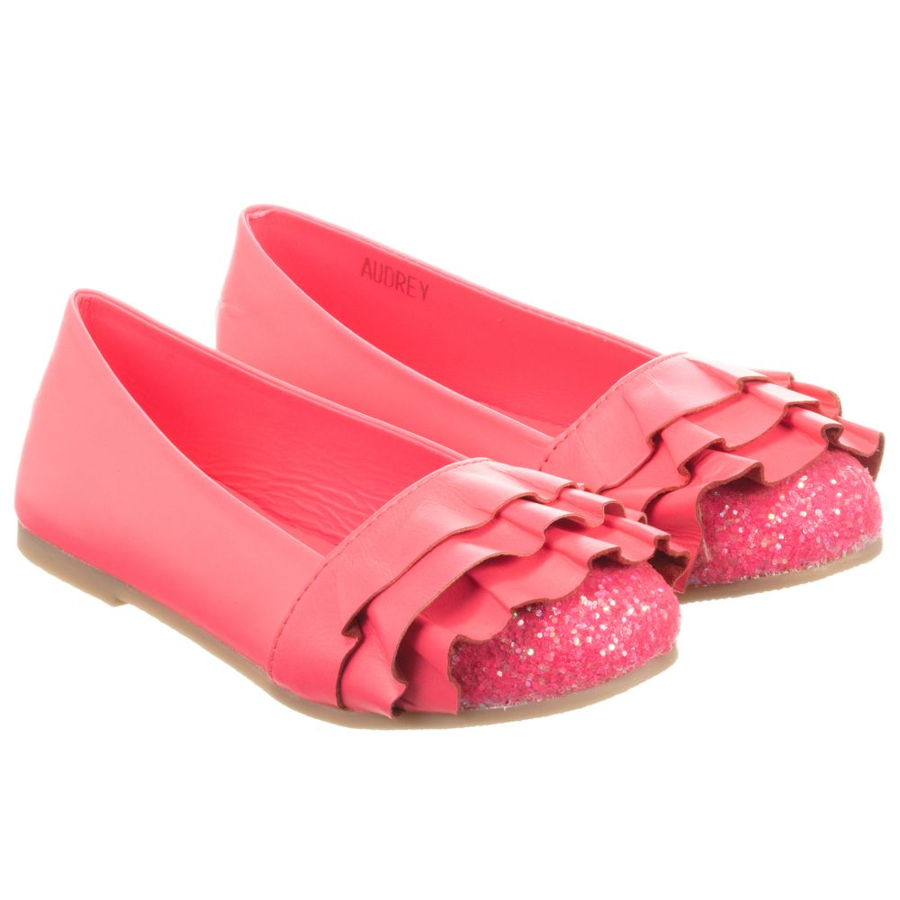 Neon Number Shoes Childrensalon Leather Outlet 240298 Pink BillieblushGirls Product pSMUzqV