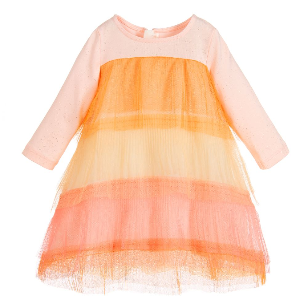 09197ccbd87e Billieblush - Girls Pink   Orange Dress