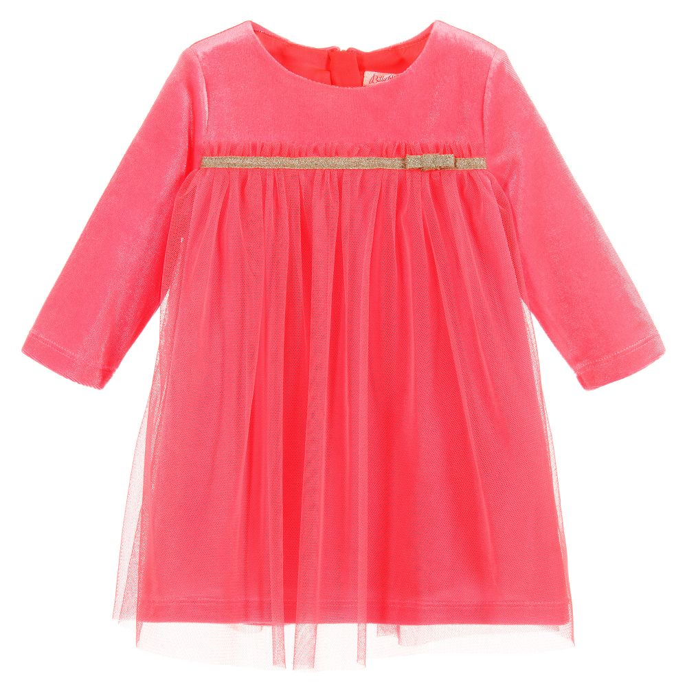 55a7cd1a556f Billieblush - Girls Velour   Tulle Dress