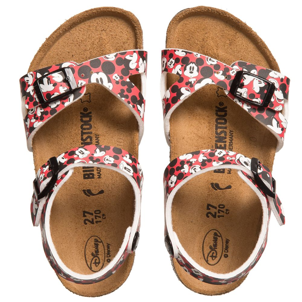 Rio BirkenstockRed Mouse Sandals Number 124938 Mickey Product Childrensalon Outlet DHIWE29