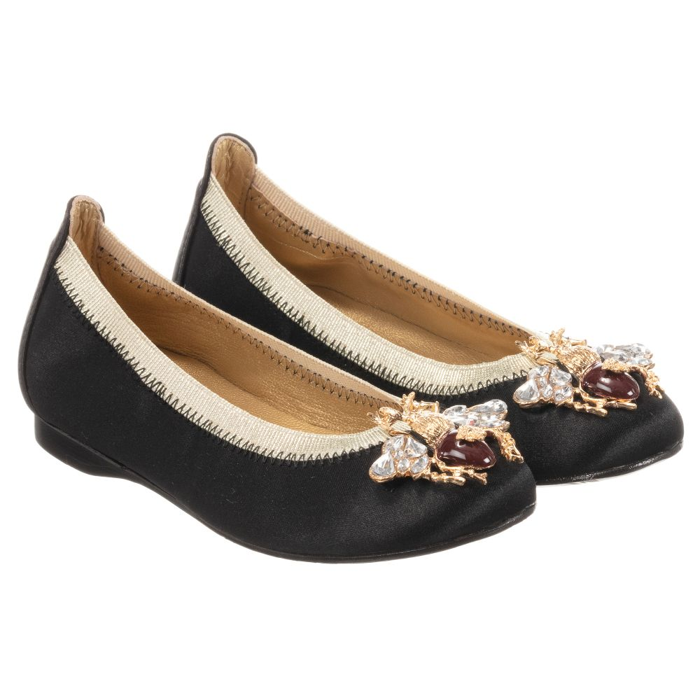 Black Satin Outlet 257394 CharlesGirls Shoes Product Number Childrensalon David XOZiPukT