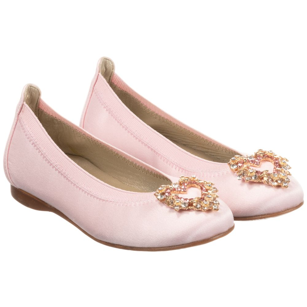 Pink Shoes 257437 Satin David Outlet CharlesGirls Product Childrensalon Number On0Pw8k