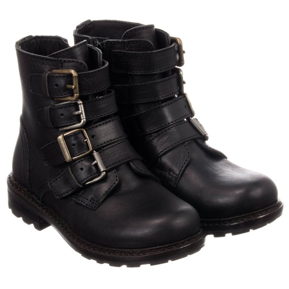 Dolceamp; 183209 Leather Boots Product GabbanaBlack Biker Outlet Childrensalon Number vfIbYym76g