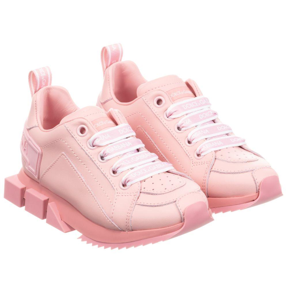 Dolce \u0026 Gabbana - Pink Leather Logo