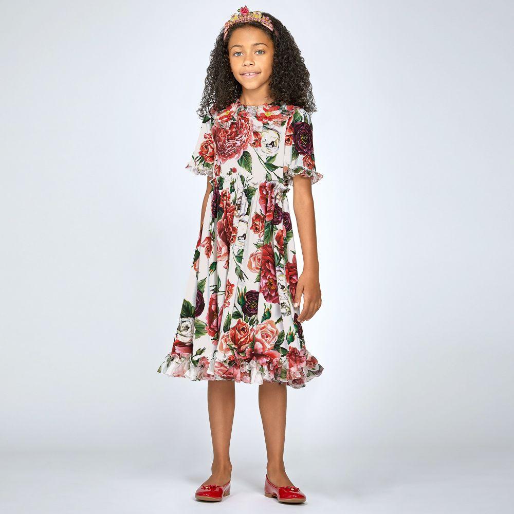 12a8a7ebd5e Dolce   Gabbana - Red   Pink Floral Crêpe Dress