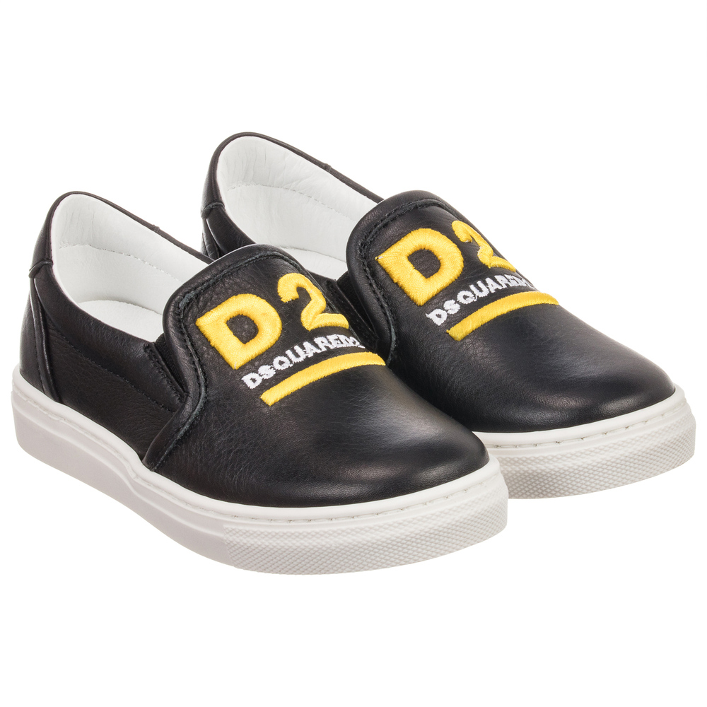 Dsquared2Black Slip on Outlet 188187 Leather Shoes Product Childrensalon Number Aj54RL