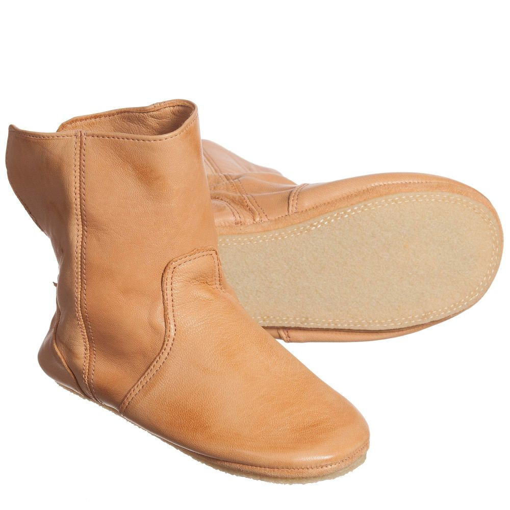 Childrensalon 'bobottes' Easy Leather Outlet Boots 111668 Slip Product on Number PeasyTan Slipper BeCWdxor