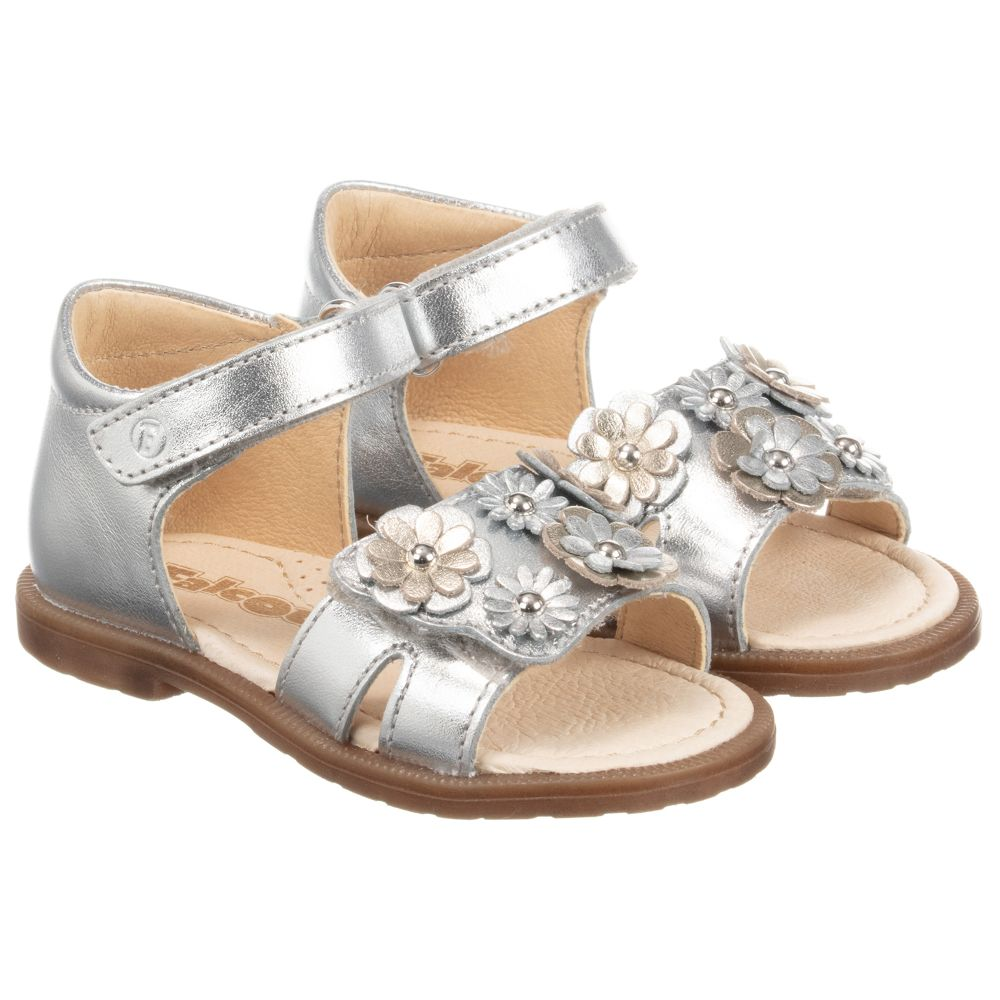 Childrensalon Number Leather 244000 Sandals NaturinoGirls Falcotto By Silver Outlet Product 8n0vwOmN