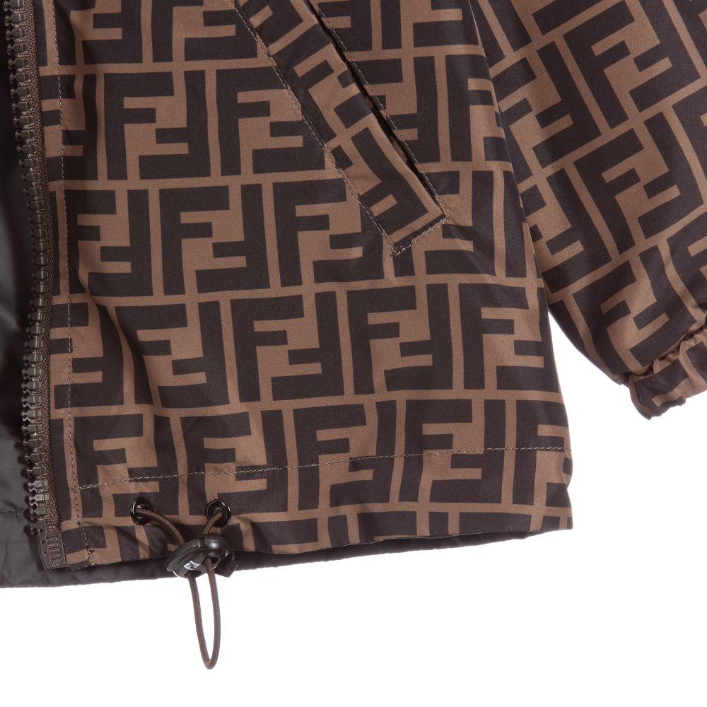 Shop Brown Fendi Ff Motif Trousers With Express