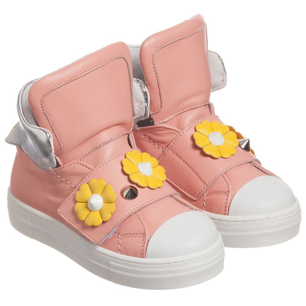 Outlet Trainers chan Piro Product Number Pink Childrensalon 178620 FendiGirls iPuOXZTk