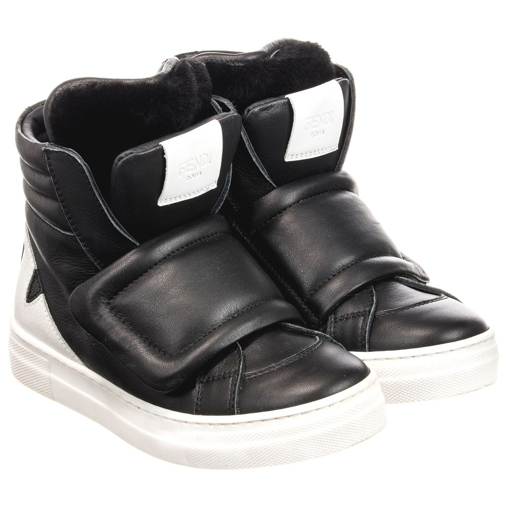 c555705eb1 Leather High-Top Trainers
