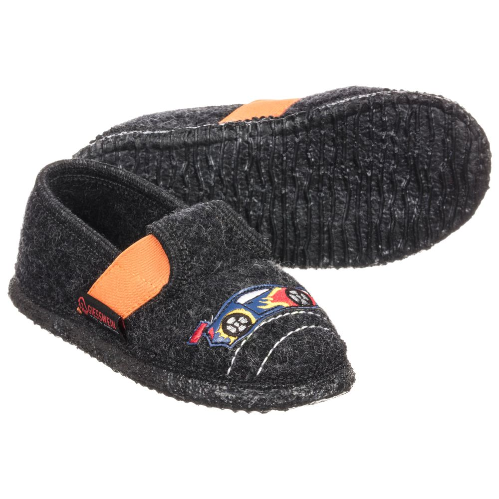 Slippers Grey 226346 Product Outlet Felt Childrensalon Number GiessweinBoys Wool gYbyvf76