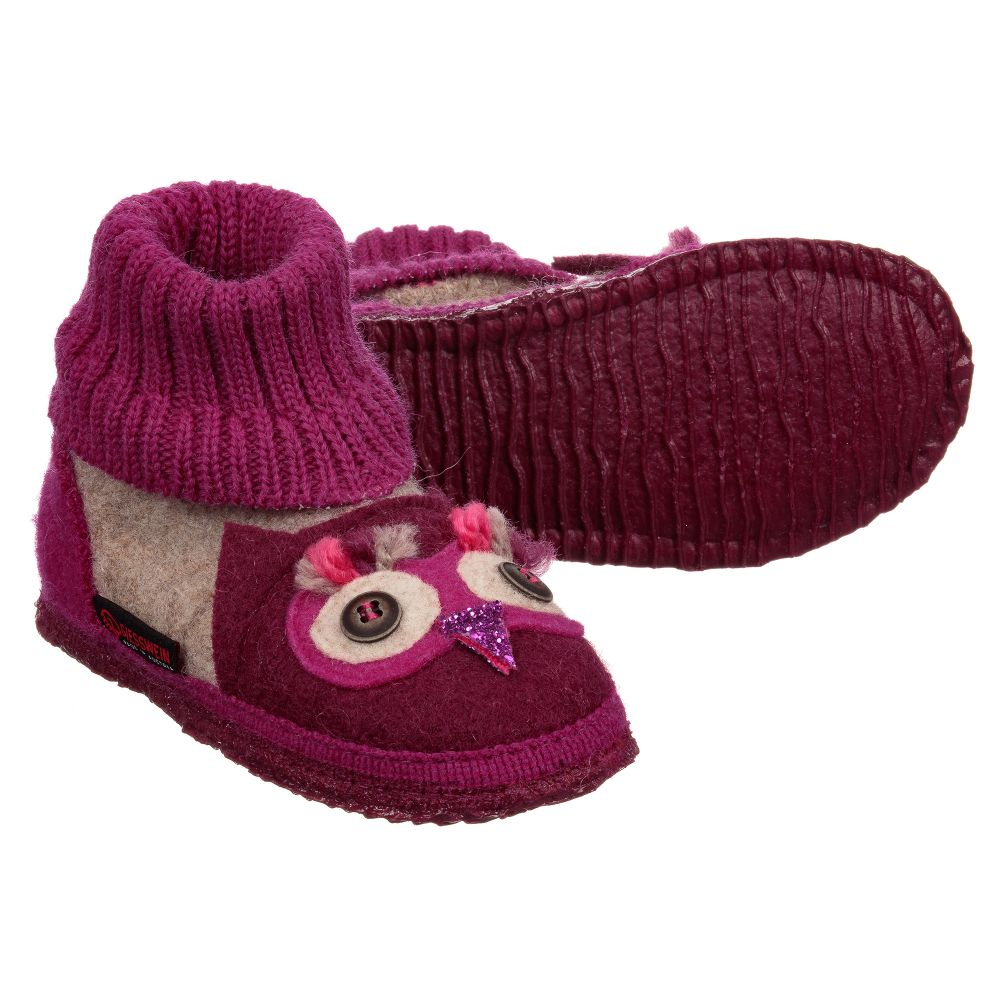 Outlet Product Childrensalon Number Wool GiessweinGirl Slippers Felt 226327 TcuF1K3lJ