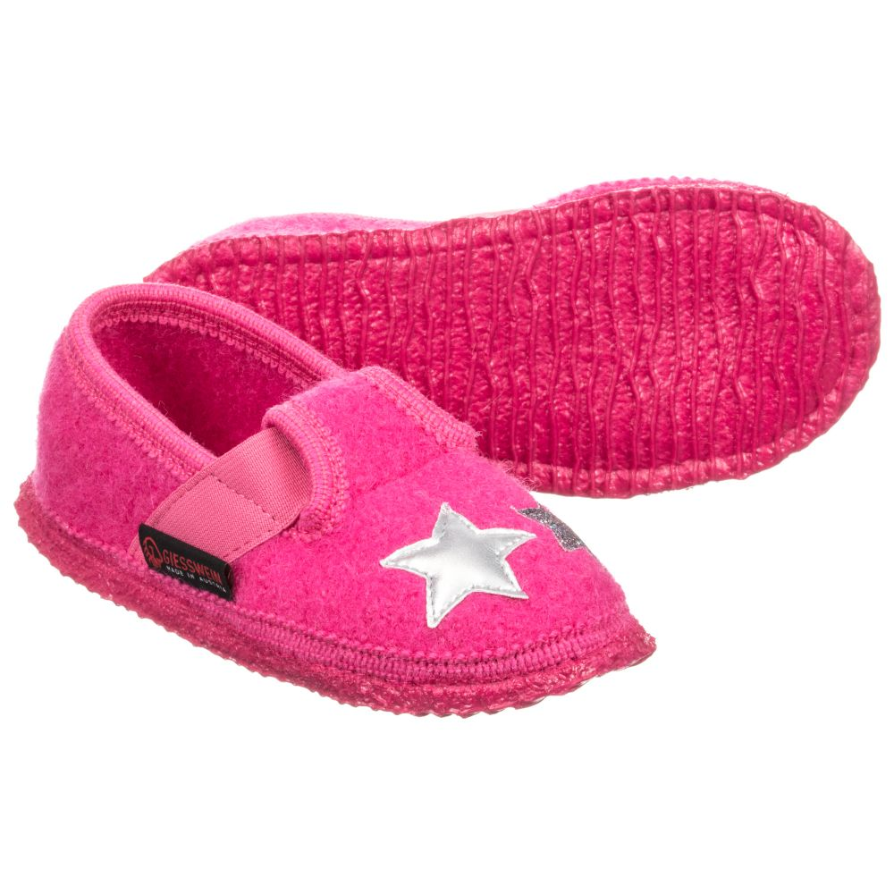 Pink Felt Childrensalon GiessweinGirls Outlet 226343 Wool Product Slippers Number htsrQd