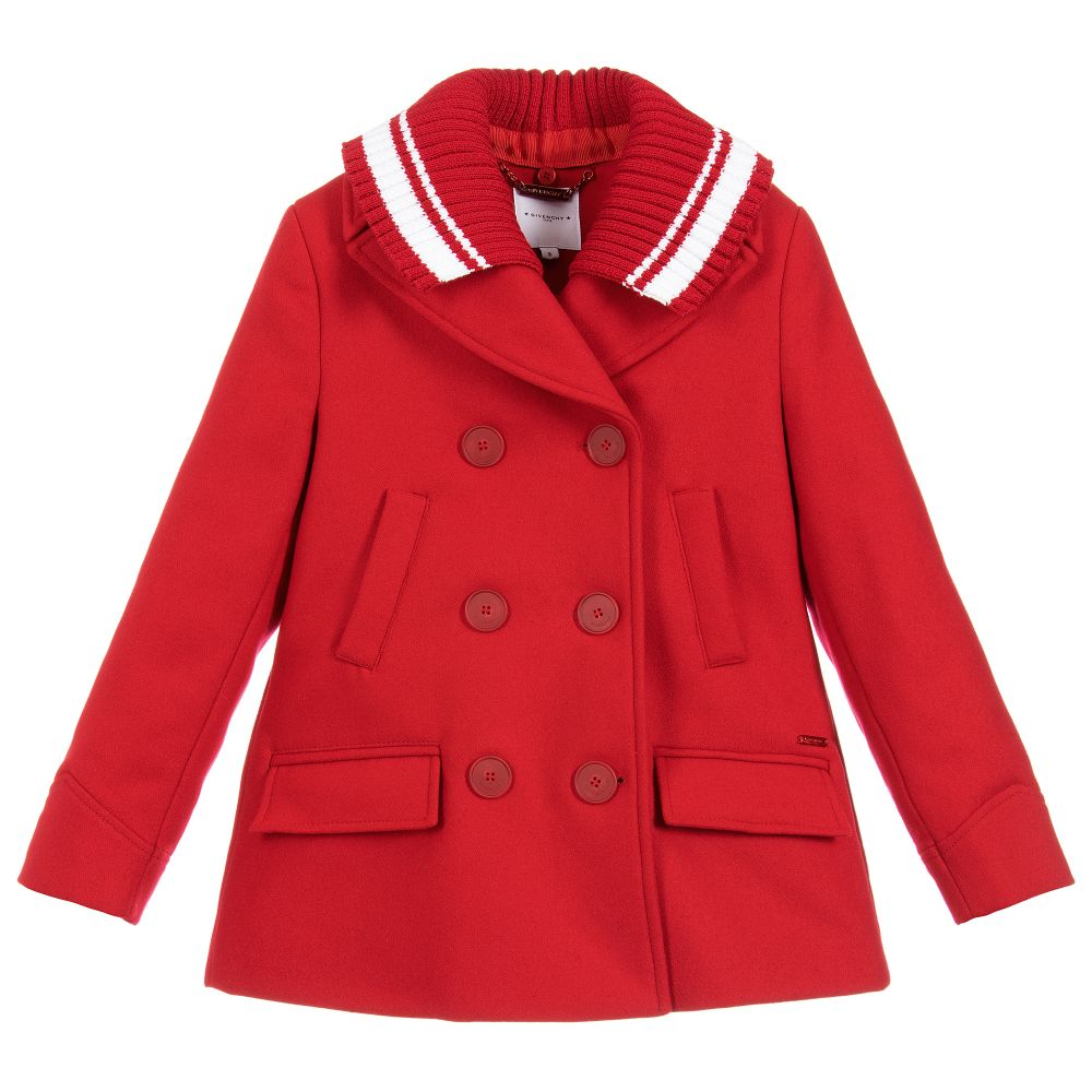 63d9dec70235 Givenchy Kids - Girls Red Wool Coat
