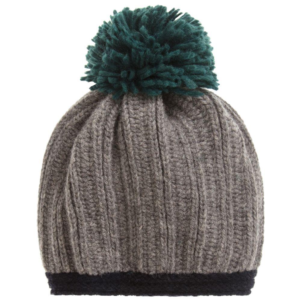 8a9b5813d34 Grey Beanie Pom Pom Hat