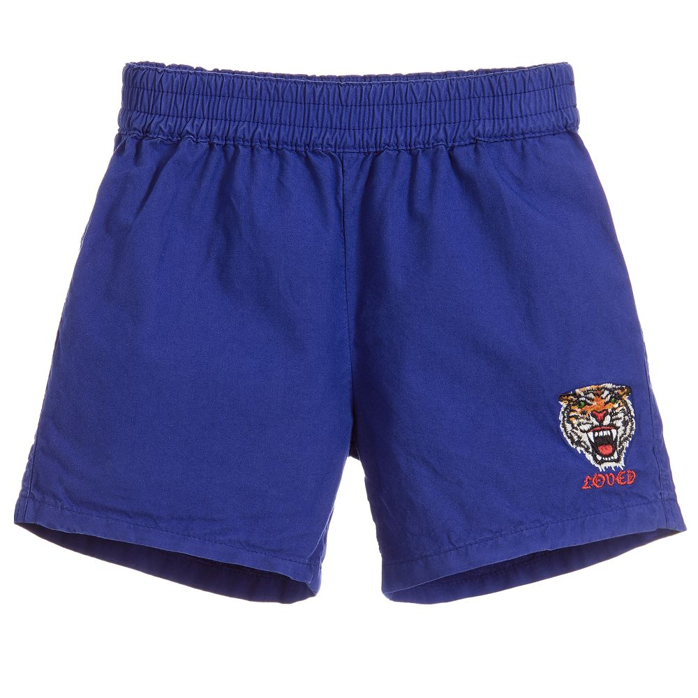 Gucci - Boys Blue Cotton Shorts