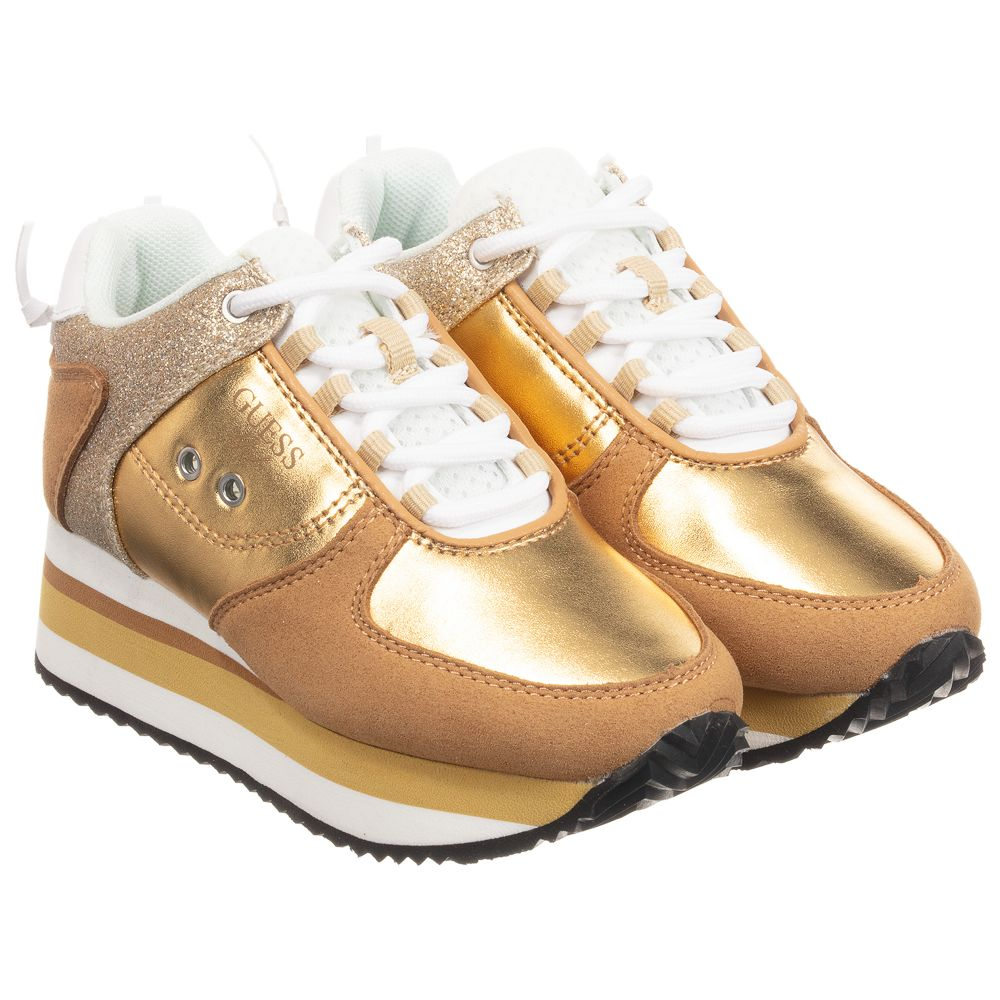 Guess - Gold Platform Trainers