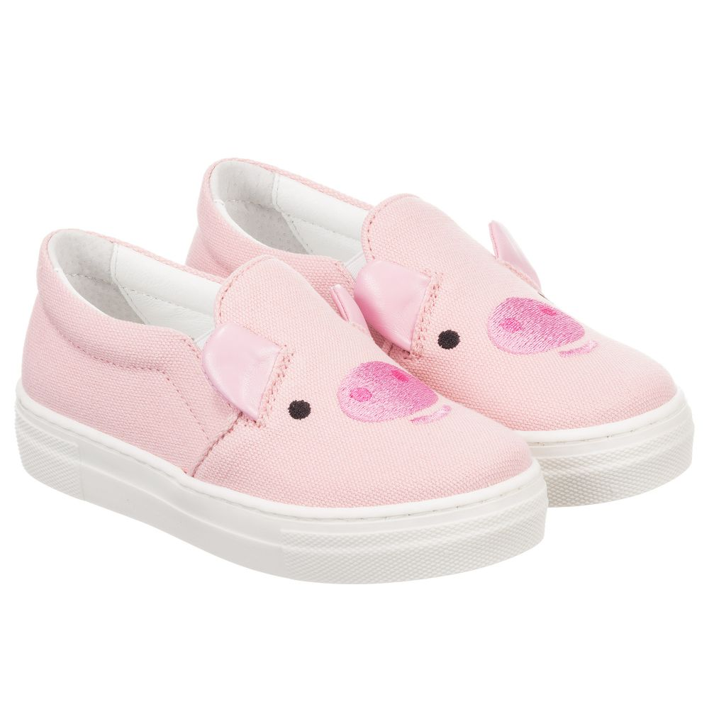 Childrensalon Joshua Product Pink Trainers Sanders Pig Number Cotton Outlet 207705 KidzGirls EWH29IDY
