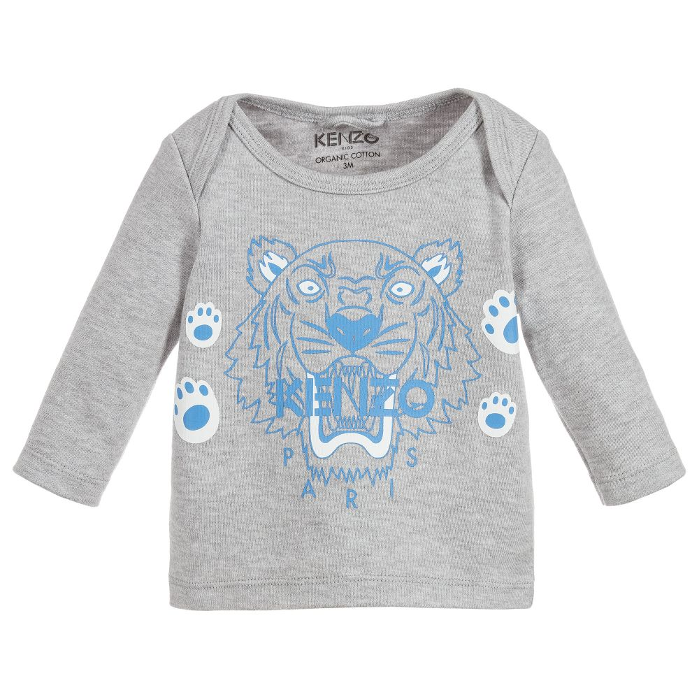 8839379e3956 Kenzo Kids - Baby Boys Grey Tiger Top