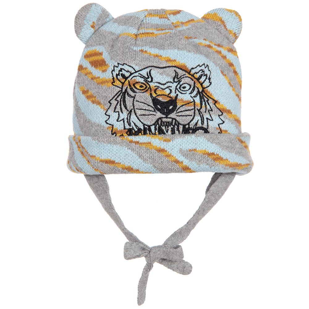 Kenzo Kids - Baby Boys Pale Blue Tiger Hat  1cb2b25519f