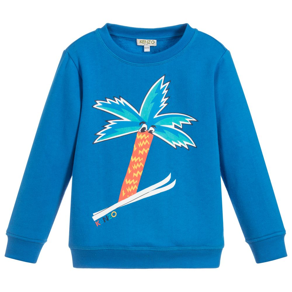 883019f1a4f7 Kenzo Kids - Bright Blue Jersey Sweatshirt