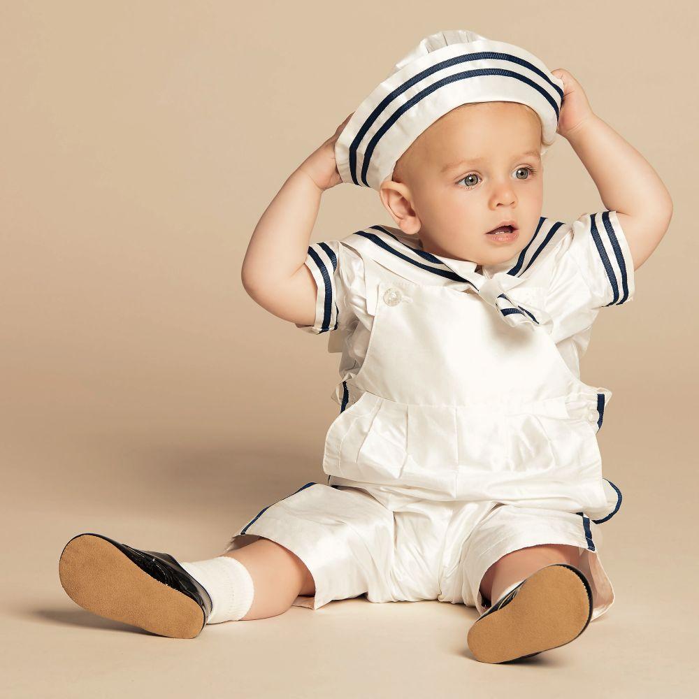 "Baby Boy Dungaree Set /""Little Sailor/"""