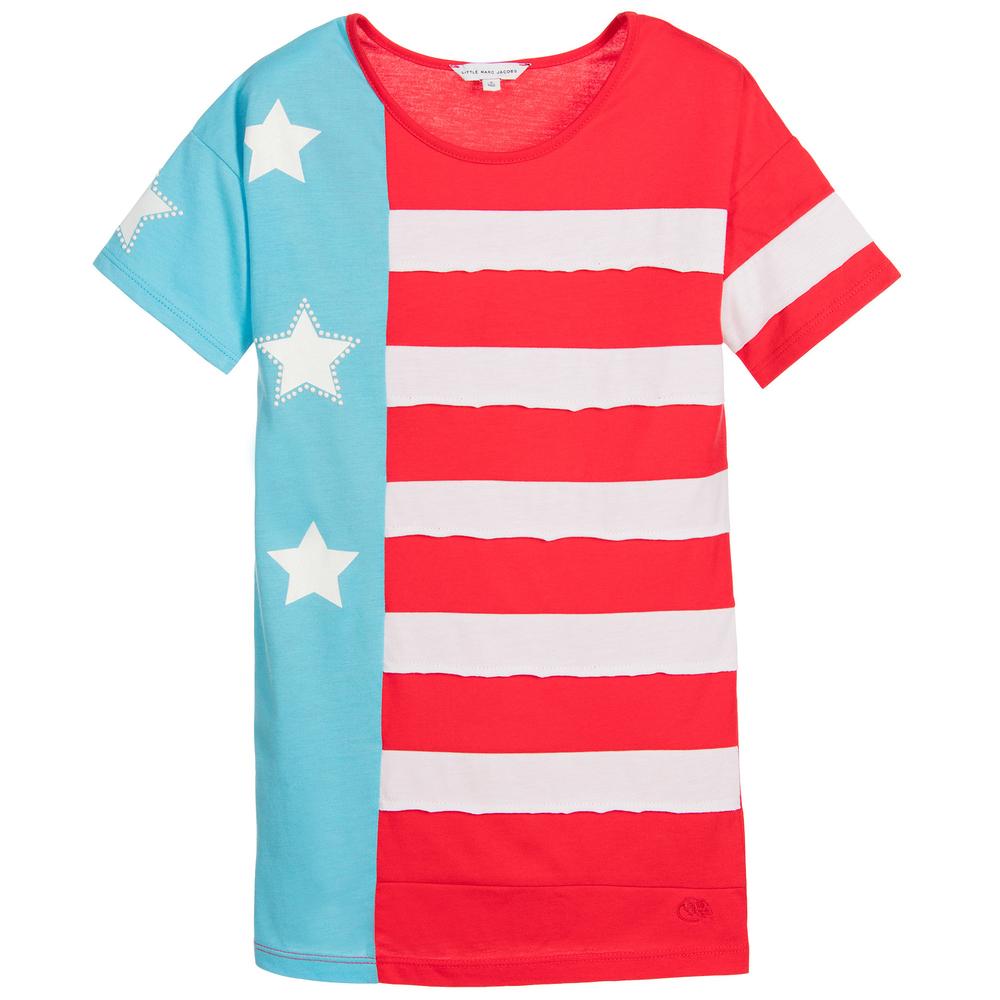 b78fd8abf0c Little Marc Jacobs - Girls Cotton   Modal Flag Dress