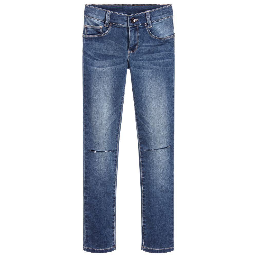 Descripción portátil Sip  Liu Jo - Girls Blue Denim Jeans | Childrensalon Outlet