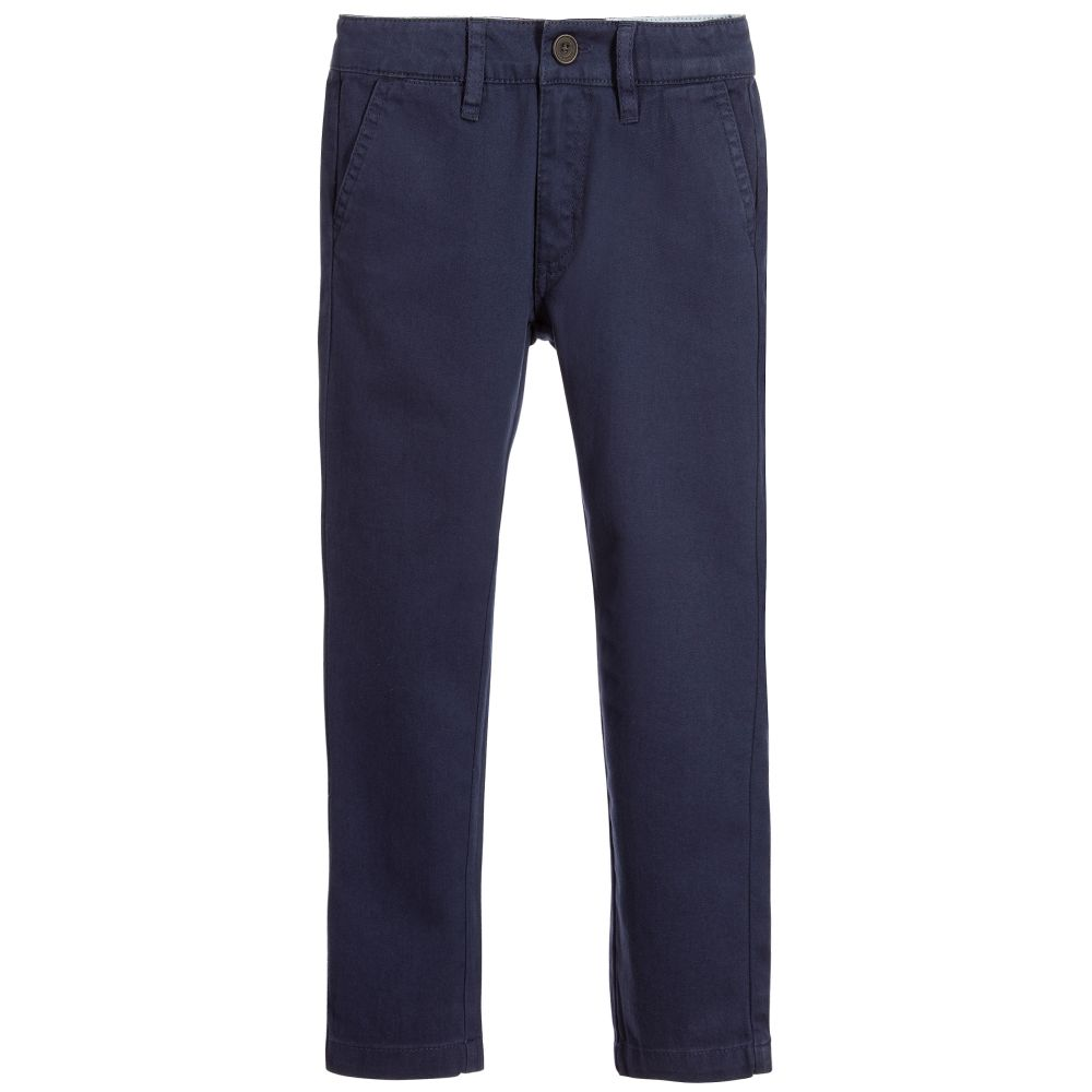 best online choose genuine save up to 60% Boys Navy Blue Cotton Chinos
