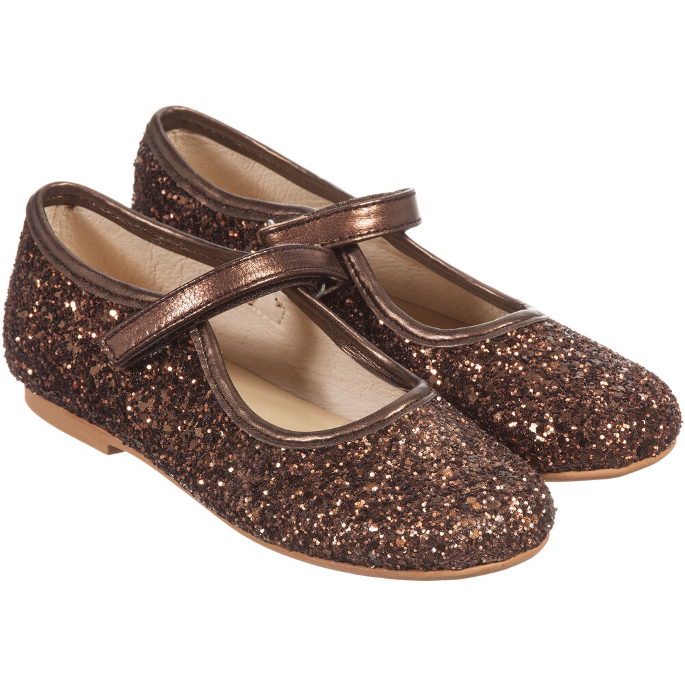Bronze Shoes Outlet Number Manuela De JuanGirls Leather Glitter 78359 Childrensalon Product If7gYb6yvm