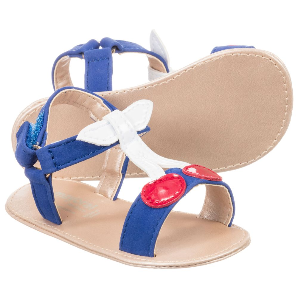 Blue 208497 Girls Product Mayoral NewbornBaby Outlet Cherry Sandals Childrensalon Number XiuZOkTlwP