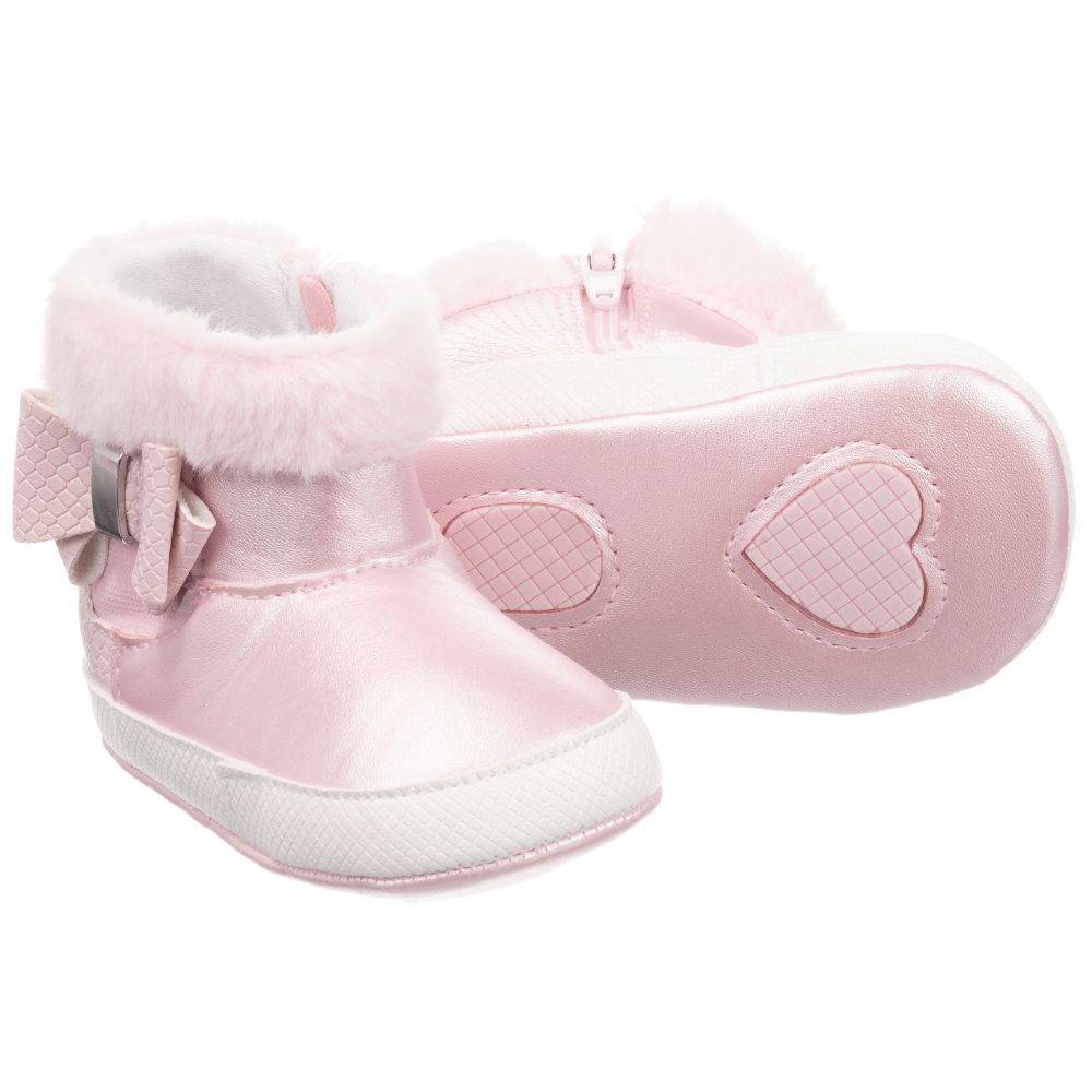 Newborn Baby Boy Girl Faux Leather Booties Toddler Pre Walker Boots 3-6 6-9 9-12