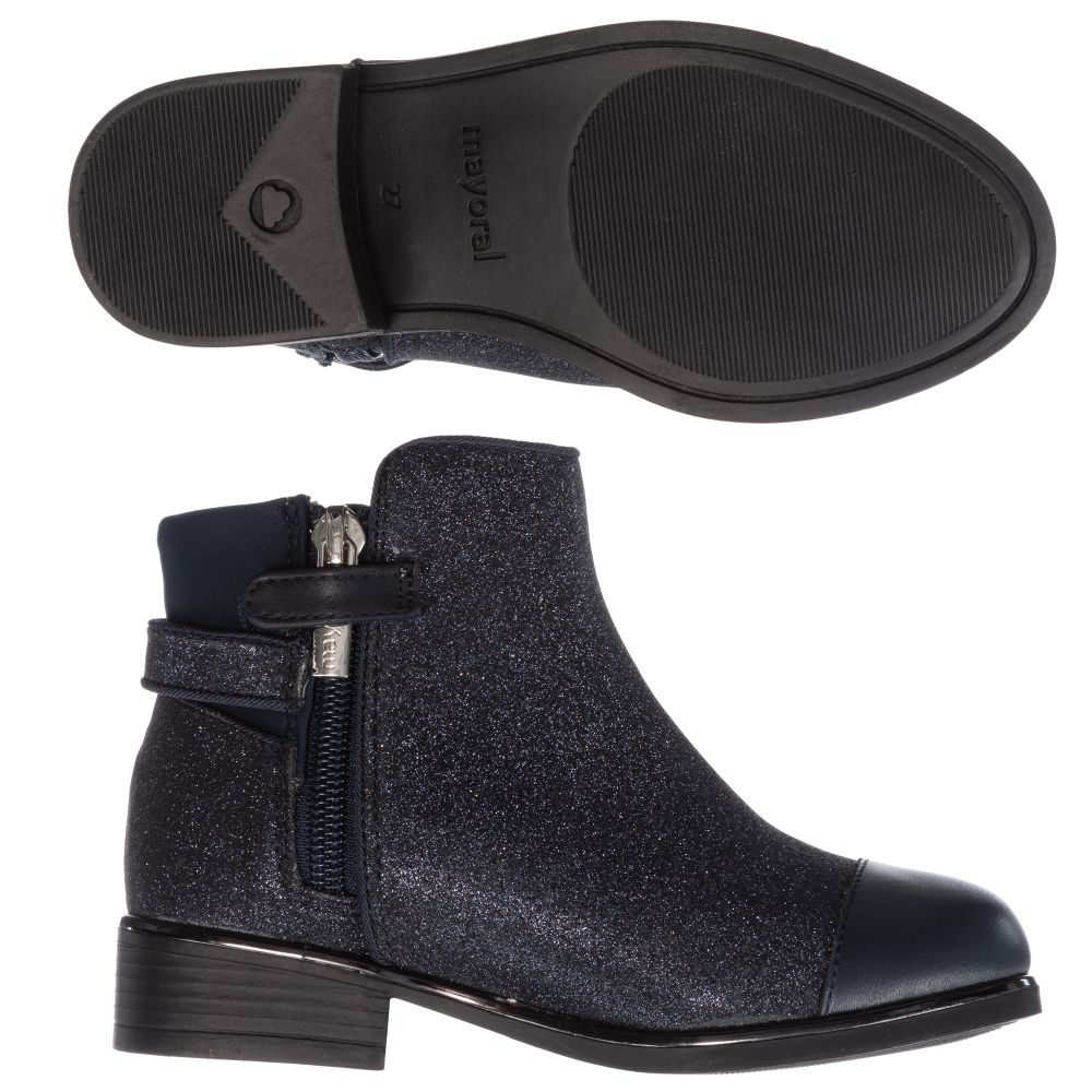 Mayoral - Blue Glitter Ankle Boots