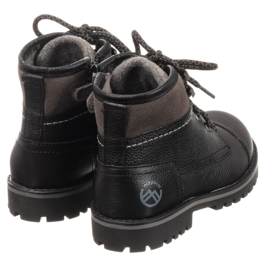 Mayoral - Boys Black Leather Boots