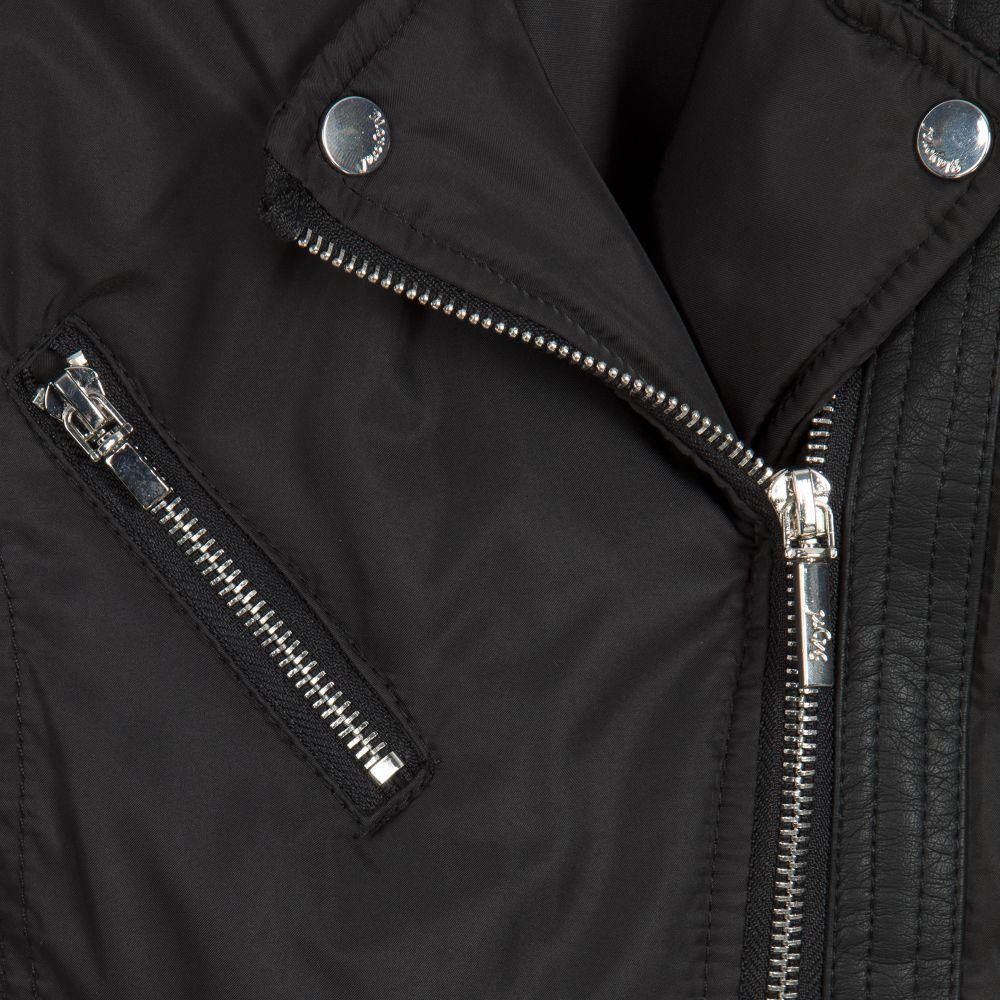 f6702c787 Girls Black Faux Leather Jacket