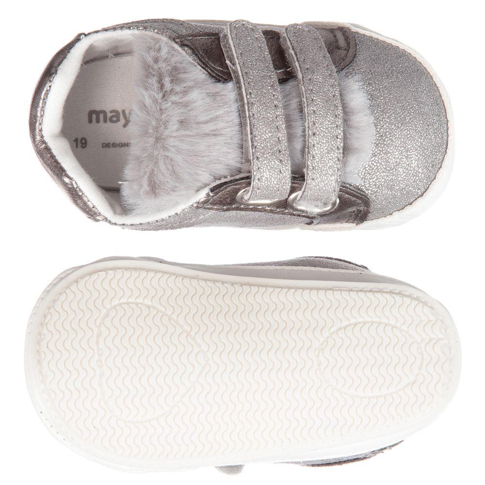 Girls Silver Pre-Walker Shoes