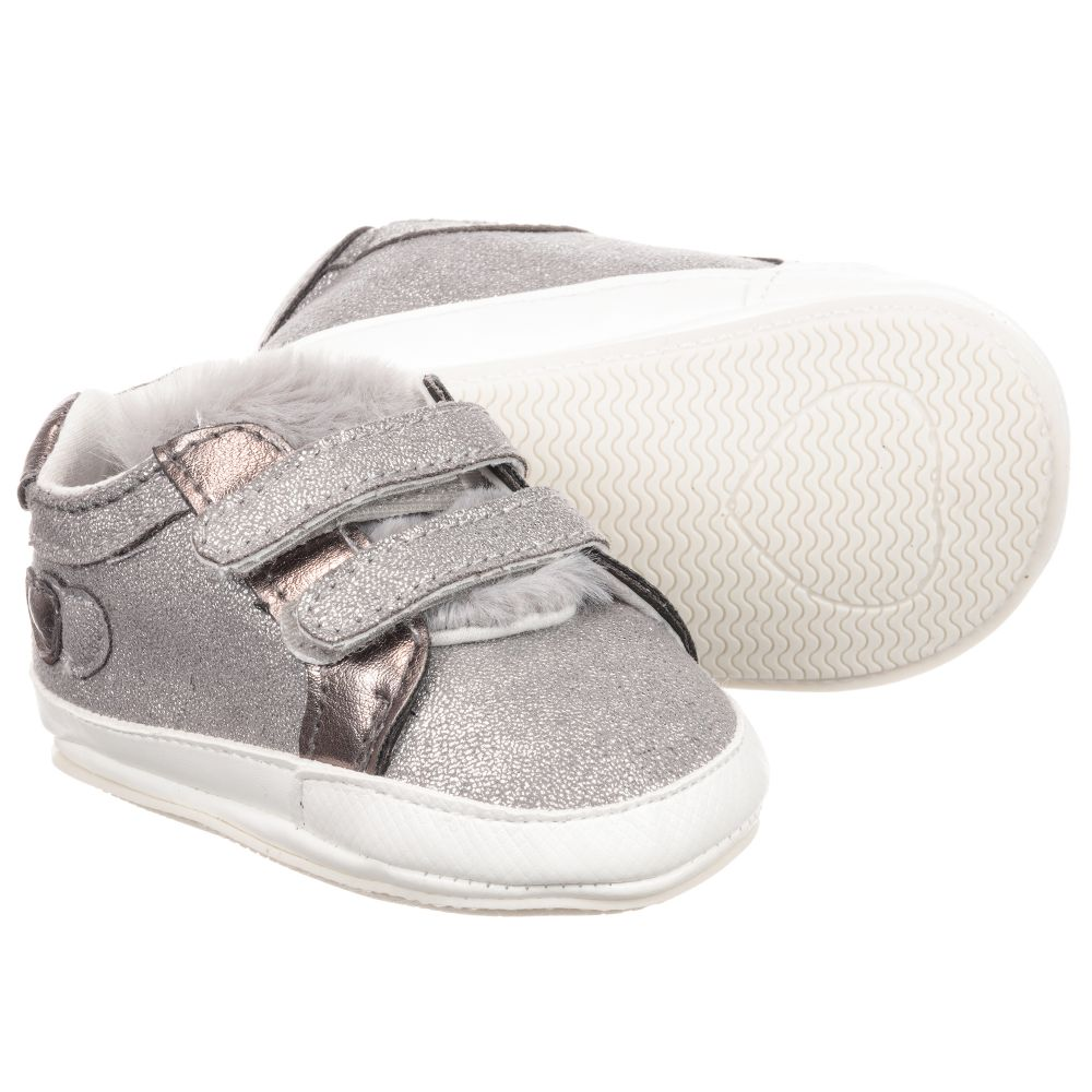 228097 Pre NewbornGirls Number walker Outlet Product Mayoral Shoes Childrensalon Silver kiTlwZuOXP