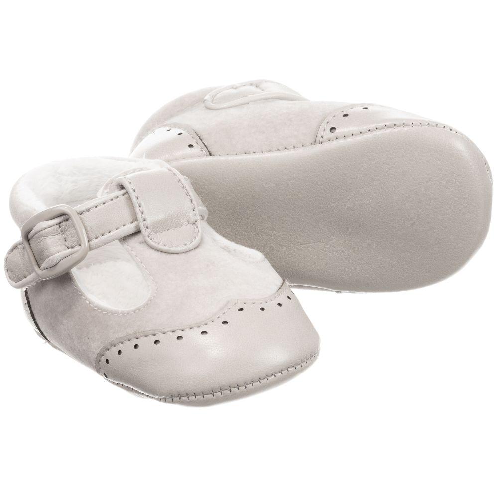 Mayoral Newborn - Grey Pre-Walker Shoes