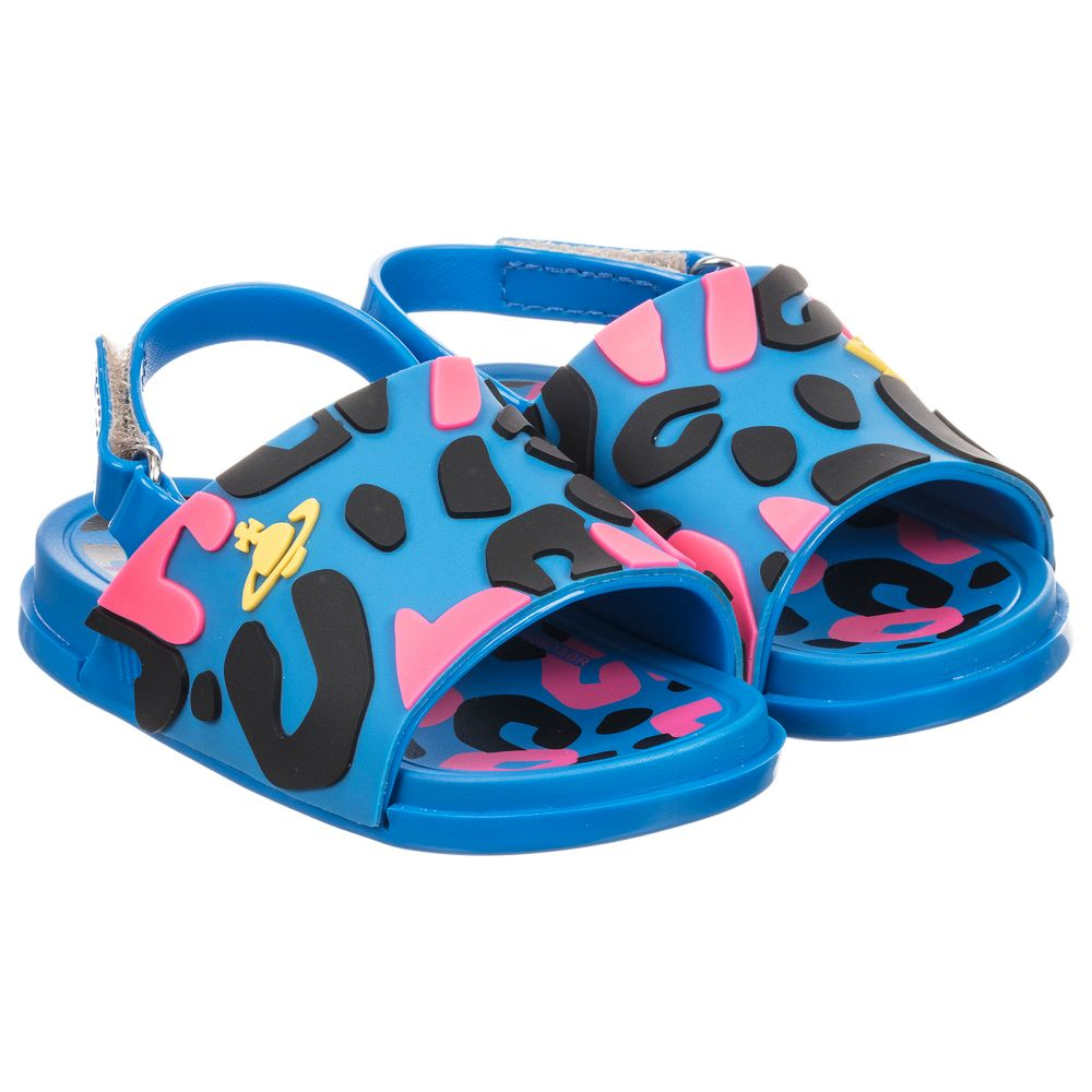 Childrensalon Number Mini MelissaBlue Jelly Product Sandals Leopard 231365 Outlet FKJT13ulc