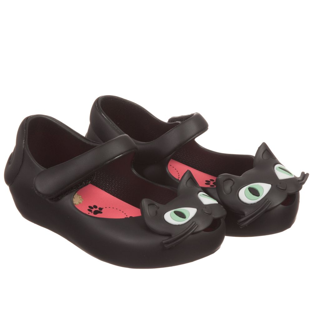 Mini Melissa - Girls Black Cat Jelly