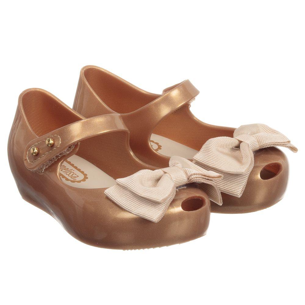 Mini Melissa - Girls Gold Bow Jelly