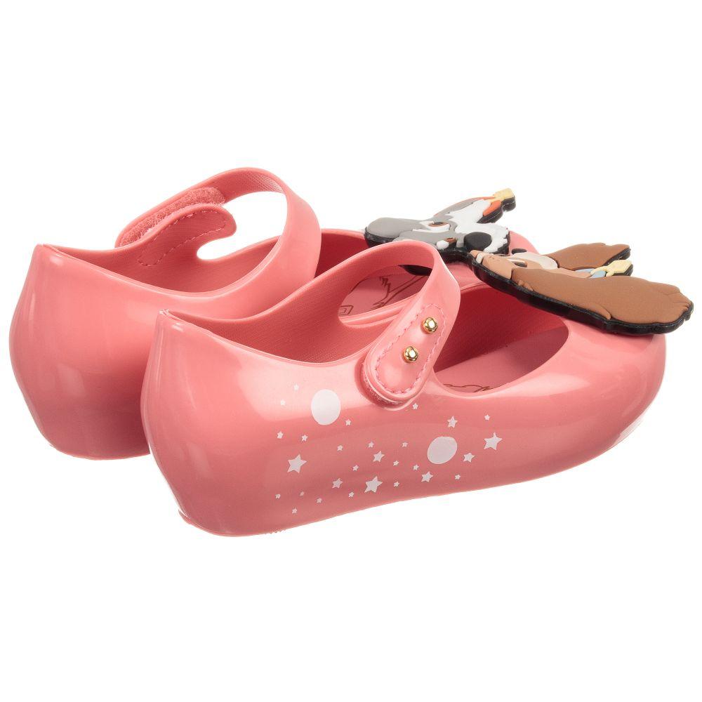 17ed6bb358e0 Mini Melissa - Girls Pink Disney Jelly Shoes