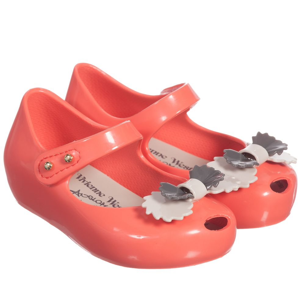 beauty sale retailer the best Mini Melissa - Girls Pink Vivienne Westwood Jelly Shoe & Bow ...