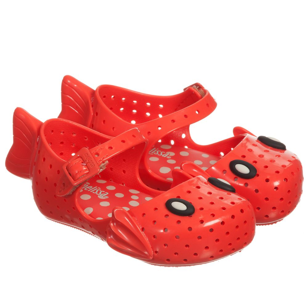 MelissaGirls Red Childrensalon Product 160270 Outlet Fabula' Number Shoes Mini 'furadinha Jelly Yy7gvbf6
