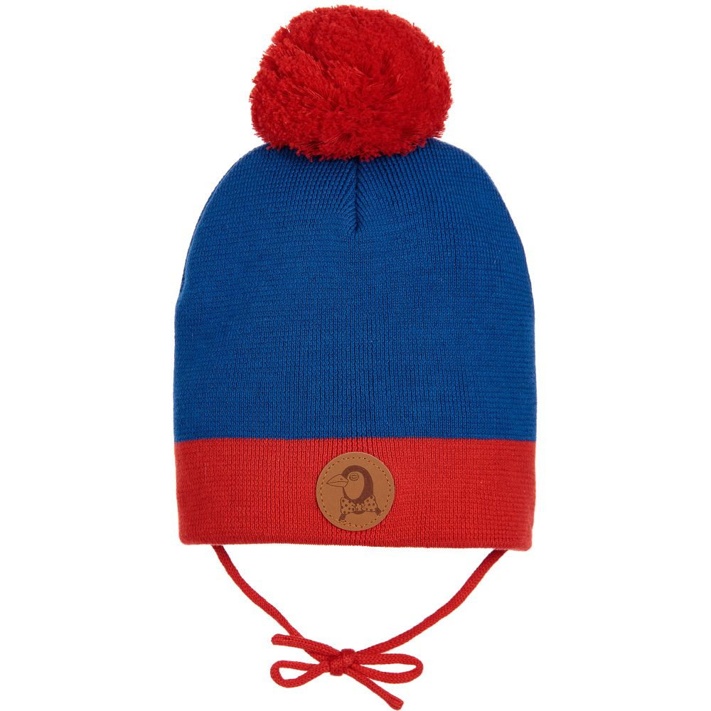 Mini Rodini Blue Amp Red Knitted Hat Childrensalon Outlet