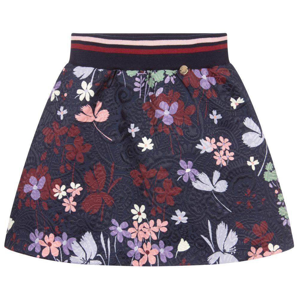 Black & Pink Floral Print Satin Front Longsleeve Sweat Top